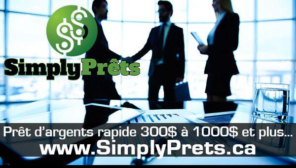 SimplyPrêts.ca- Solution efficace et immédiate à vos problèmes financiers